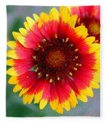 Bright Floral Day Fleece Blanket