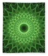 Bright Green Mandala Fleece Blanket