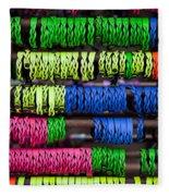 Bright Leather Bracelets Fleece Blanket