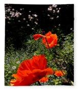 Bright Orange Fleece Blanket