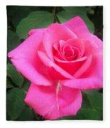 Bright-pink Rose 049 Fleece Blanket