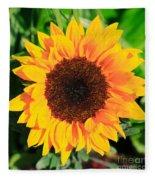 Bright Sunflower Fleece Blanket