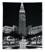 Bright White Lights At Night Fleece Blanket