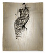 Brigitte Bardot Sketch Fleece Blanket