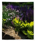 Brilliant Green Sunshine - Impressions Of Spring Fleece Blanket