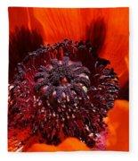 Brilliant Poppy Fleece Blanket