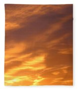 Brilliant Spring Sky Fleece Blanket