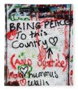 Bring Peace Fleece Blanket