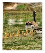 Bringing Up The Rear Fleece Blanket