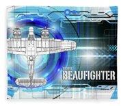 Bristol Beaufighter Blueprint Fleece Blanket