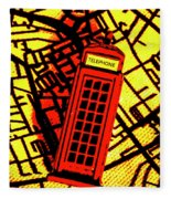 Brit Phone Box Fleece Blanket