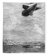 British Airship, 1919 Fleece Blanket