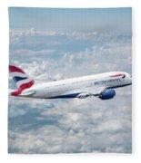 British Airways Airbus A380-841 Fleece Blanket