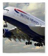 British Airways Airbus A380 Fleece Blanket