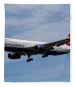 British Airways Boeing 767 Fleece Blanket