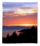 British Columbia Sunset Fleece Blanket