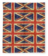 British Flag Collage One Fleece Blanket