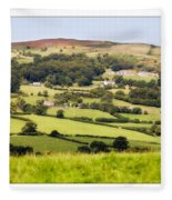 British Landscape Fleece Blanket