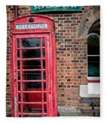 British Phone Box Fleece Blanket