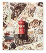 British Post Box Fleece Blanket