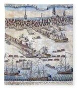British Ships Of War, Landing Troops Fleece Blanket