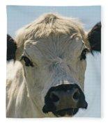 British White Cow Fleece Blanket