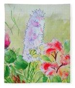 British Wild Flowers Fleece Blanket