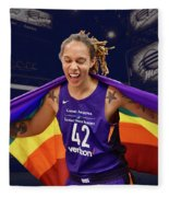Brittney Griner Lgbt Pride 3 Fleece Blanket