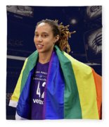 Brittney Griner Lgbt Pride 4 Fleece Blanket
