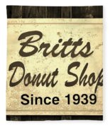 Britt's Donut Shop Sign 3 Fleece Blanket