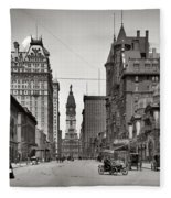Broad Street Philadelphia 1905 Fleece Blanket