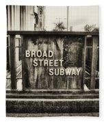 Broad Street Subway - Philadelphia Fleece Blanket