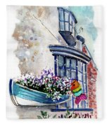 Broadies By The Sea In Staithes Fleece Blanket