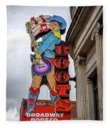 Broadway Boots - Nashville Tn Fleece Blanket