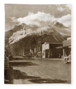 Broadway In Skagway Alaska Street Scene Circa 1957 Fleece Blanket