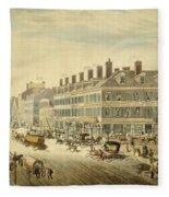 Broadway, New York Fleece Blanket