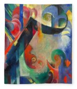 Broken Forms By Franz Marc Modern Bright Colored Painting  Fleece Blanket