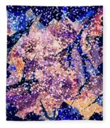 Broken Glass And A Snowstorm Fleece Blanket