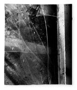 Broken Glass Window Fleece Blanket