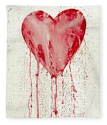 Broken Heart - Bleeding Heart Fleece Blanket