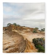 Broken Hill At Sunset Fleece Blanket