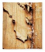 Broken Old Stump Spruce Fleece Blanket