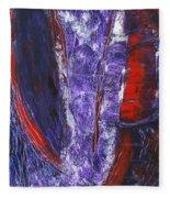 Broken Purple Heart Fleece Blanket