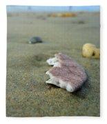 Broken Sand Dollar - Low Tide At Manhattan Beach Fleece Blanket