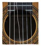 Broken String On A Classical Guitar Fleece Blanket