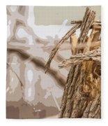 Broken Tree Base Fleece Blanket