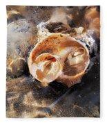 Broken Whelk Shell Fleece Blanket