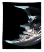 Brokenhearted Moon Fleece Blanket