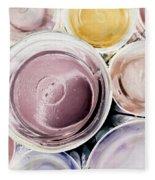 Bromo Seltzer Vintage Glass Bottles Bottom Abstract Fleece Blanket