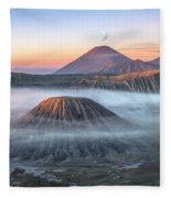 bromo tengger semeru national park - Java Fleece Blanket